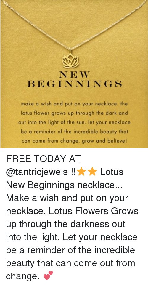 N E W Begin Nin G S Make A Wish And Put On Your Necklace The Lotus