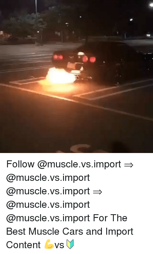 N Follow For The Best Muscle Cars And Import Content Vs