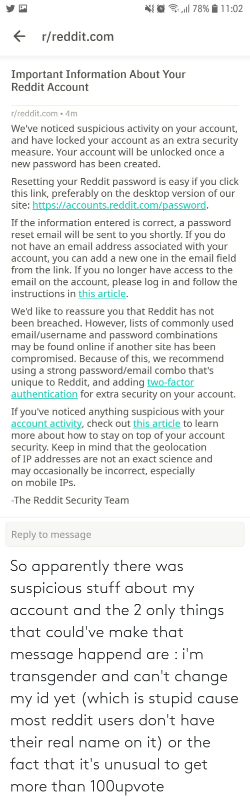 Followers told me to make a Reddit account so I could