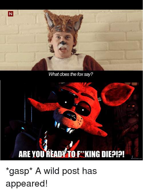 Doe, Memes, and What Does: N  What does the fox say?  ARE YOU READY TO F*KING DIEPIP! *gasp* A wild post has appeared!