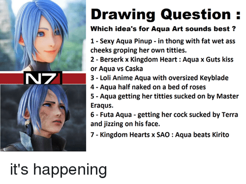 N7 Drawing Question Which Idea S For Aqua Art Sounds Best 1 Sexy