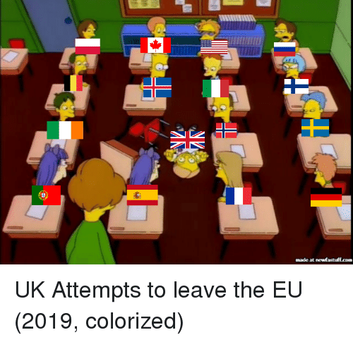 Com,  Attempts, and Leave: nade at newfastuff.com UK Attempts to leave the EU (2019, colorized)