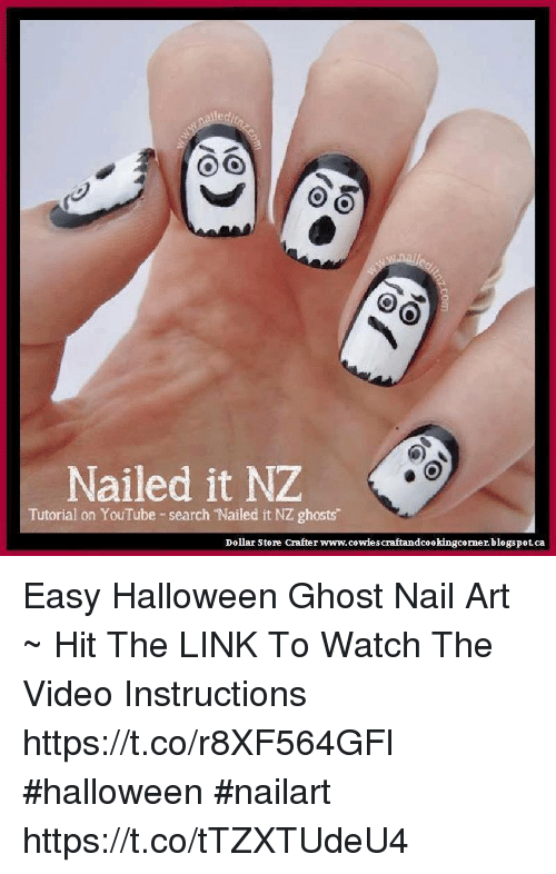 Nailed It Nze Tutorial On Youtube Search Nailed It Nz Ghosts