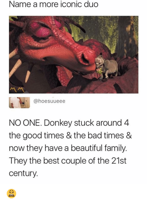 Bad, Beautiful, and Donkey: Name a more iconic duo  @hoesuueee  NO ONE. Donkey stuck around 4  the good times & the bad times &  now they have a beautiful family  They the best couple of the 21st  century 😩