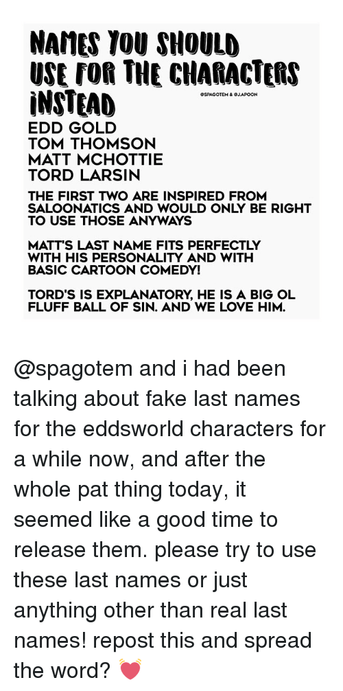 Memes And Eddsworld NAMES YOU SHOULD USE FOR THE CHARACTERS INSTEAD PAGOTEM