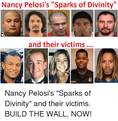 "Divinity, Sparks, and The Wall: Nancy Pelosi's ""Sparks of Divinity""  and their victims"
