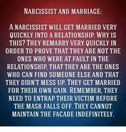 NARCISSIST AND MARRIAGE a NARCISSIST WILL GET MARRIED VERY