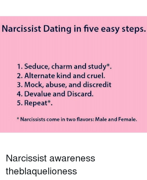 Narcissist Dating in Five Easy Steps Seduce Charm and Study* 2