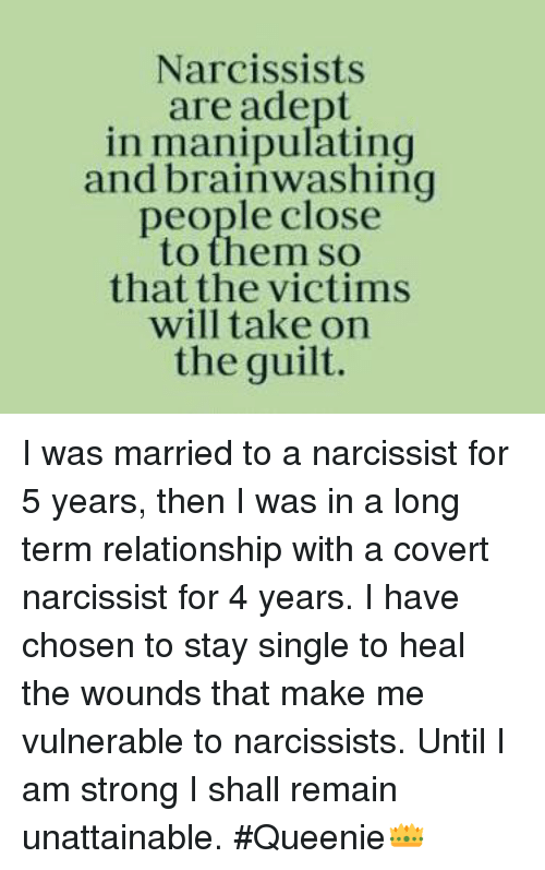 why narcissists marry