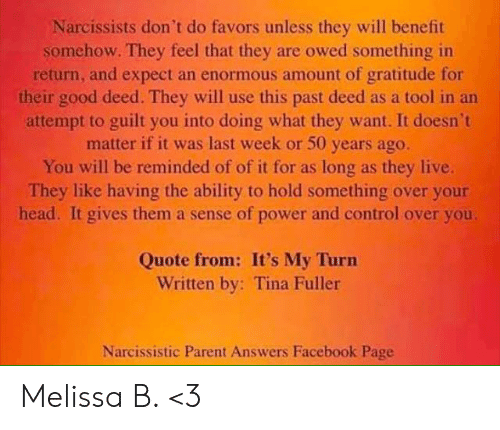 Narcissists Don't Do Favors Unless They Will Benefit Somehow