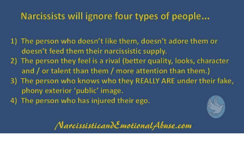 Narcissists Will Ignore Four Types of People 1 the Person Who Doesn