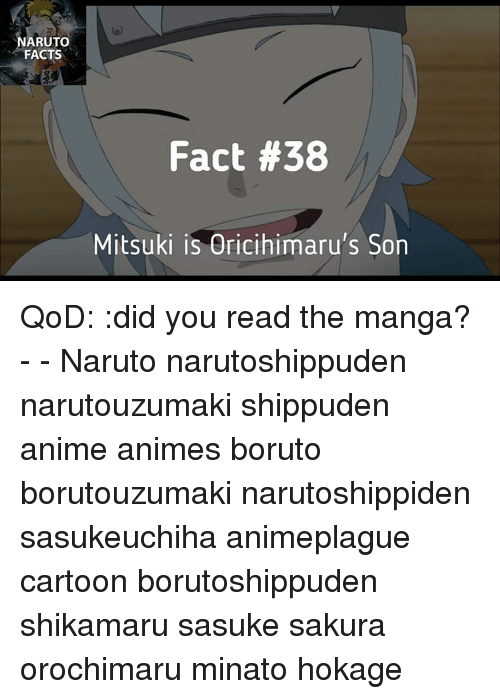 Naruto Facts Fact 38 Mitsuki Is Oricihimarus Son Qod Did You Read