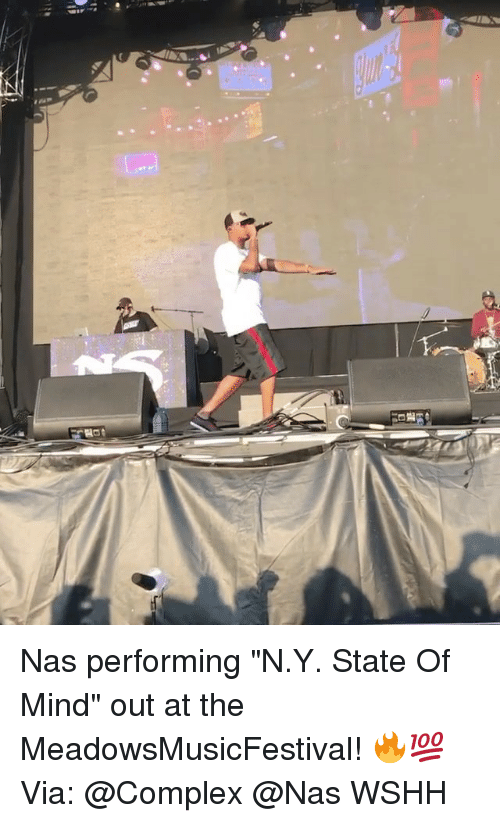 """Complex, Memes, and Nas: Nas performing """"N.Y. State Of Mind"""" out at the MeadowsMusicFestival! 🔥💯 Via: @Complex @Nas WSHH"""