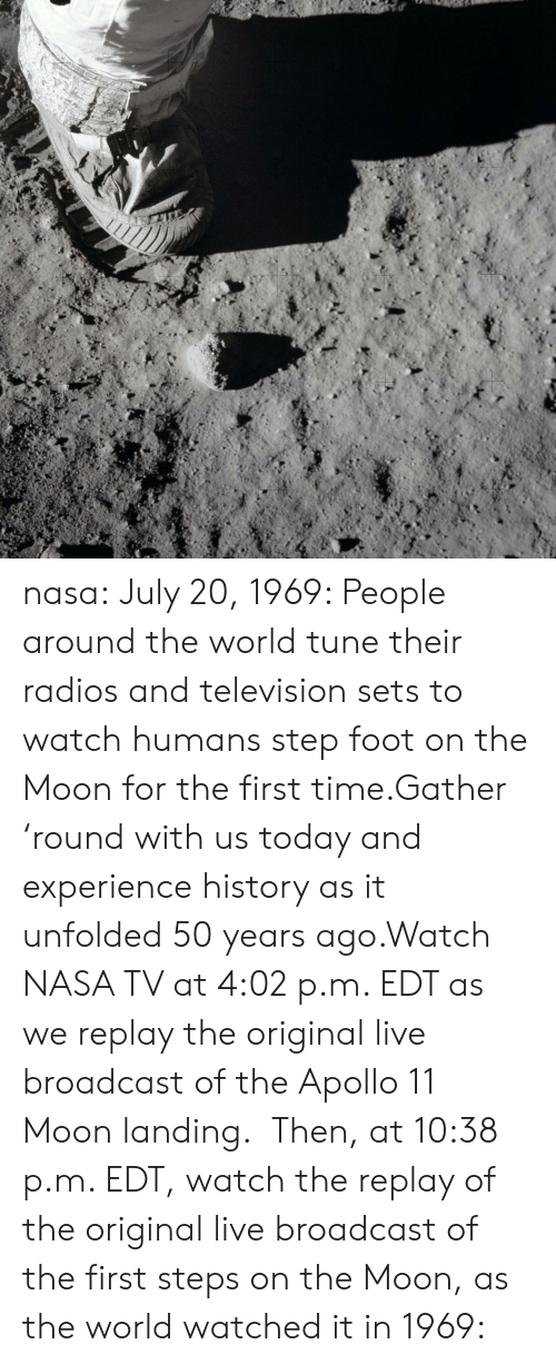 Nasa July 20 1969 People Around the World Tune Their Radios and