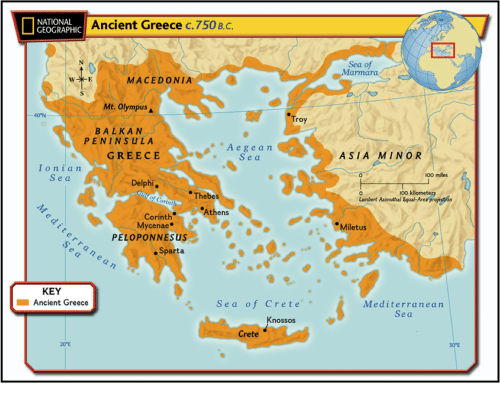 Ancient Greece Map Macedonia.National Ancient Greece C750 Bc Geographic Macedonia Mt Olympus A 40