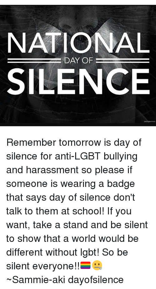 gay rights day of silence