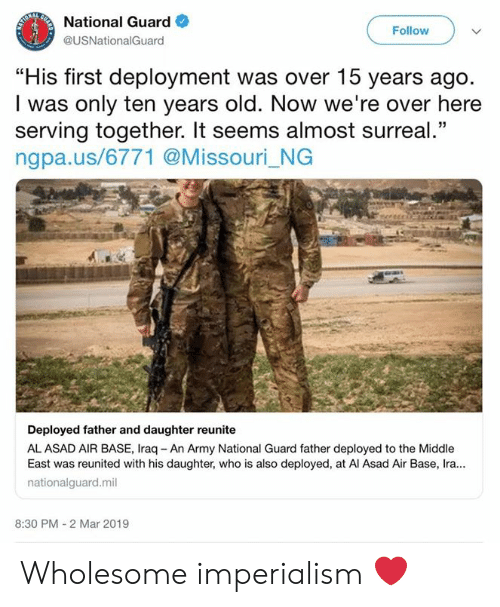 National Guard Follow His First Deployment Was Over 15 Years