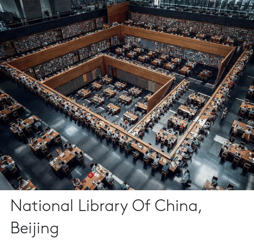 Beijing, China, and Library: National Library Of China, Beijing