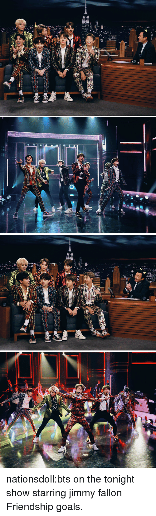 Goals, Jimmy Fallon, and Target: nationsdoll:bts on the tonight show starring jimmy fallon Friendship goals.