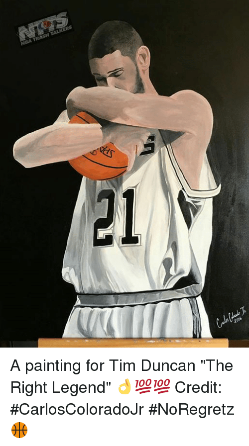 nba 2016 a painting for tim duncan the right legend credit