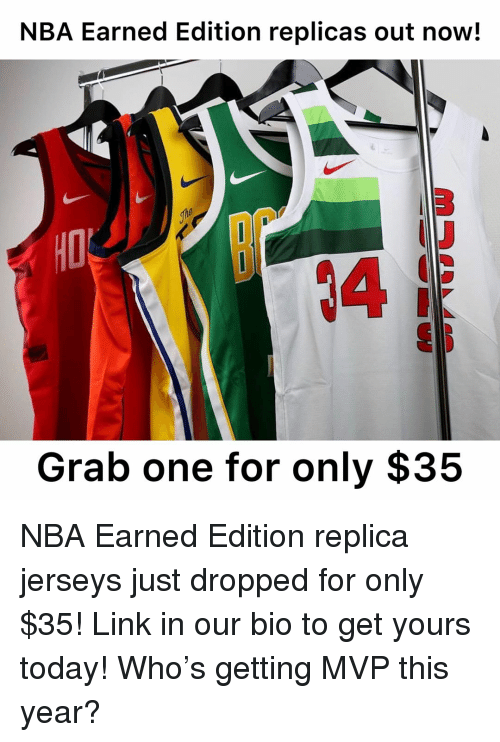 more photos efb73 dac45 NBA Earned Edition Replicas Out Now! 3 4 Grab One for Only ...