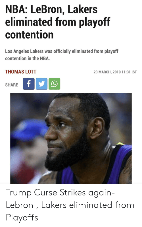 9e39fe0d4d1d NBA LeBron Lakers Eliminated From Playoff Contention Los Angeles ...