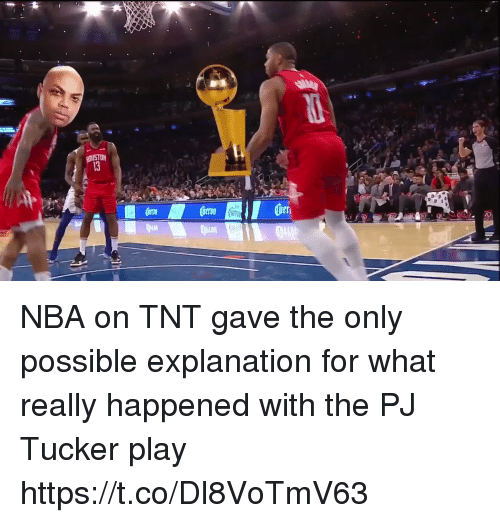 Nba, Sports, and Tnt: NBA on TNT gave the only possible explanation for what really happened with the PJ Tucker play https://t.co/Dl8VoTmV63
