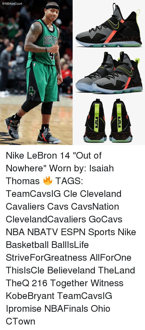 the latest 49e22 cc0d5 23 Nike LeBron 14 Out of Nowhere Worn by Isaiah Thomas ...