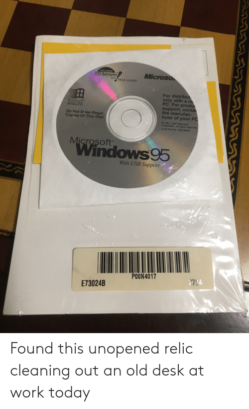 NCLUDES CD Sampler Microso With O FREE GAMES for Distribu