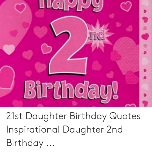 Excellent Nd Birthday 21St Daughter Birthday Quotes Inspirational Daughter Personalised Birthday Cards Paralily Jamesorg