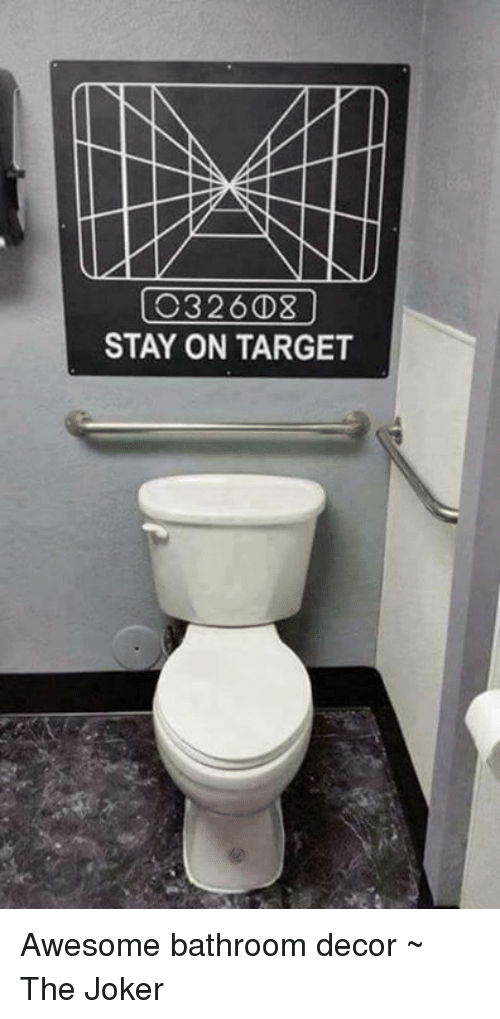 Nd C3 236d3 Stay On Target Awesome Bathroom Decor The Joker