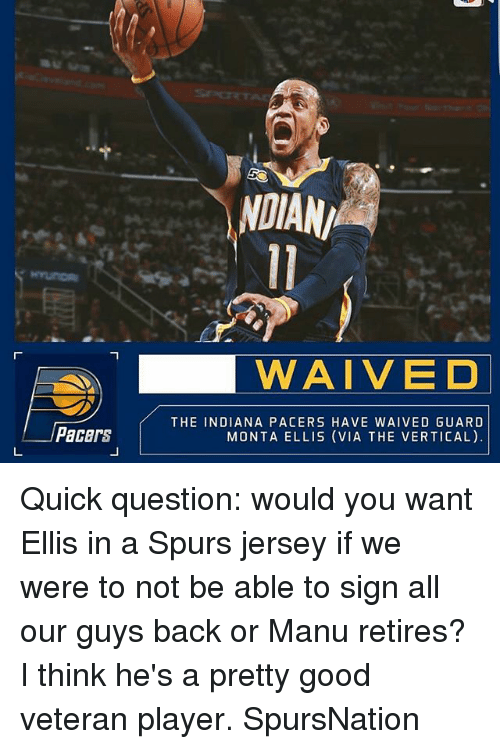 3bdb32048ad NDIAN WAIVED Pacers THE INDIANA PACERS HAVE WAIVED GUARD MONTA ELLIS ...