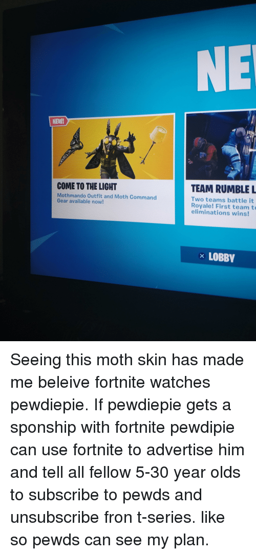 Ne New Team Rumble L Come To The Light Mothmando Outfit And Moth