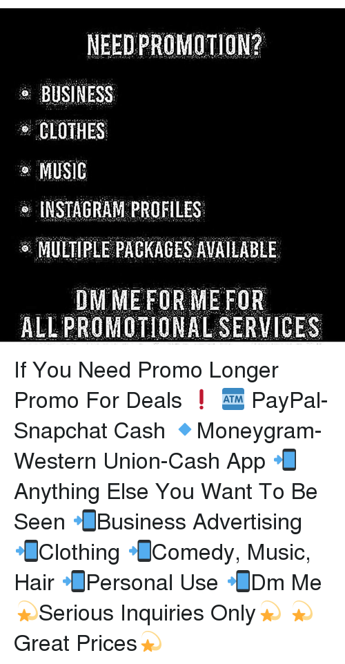 NEED PROMOTION? BUSINESS CLOTHES MUSIC INSTAGRAM PROFILES