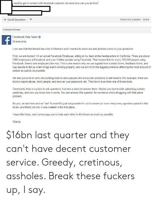 Need to Get in Contact With Facebook Customer Services How