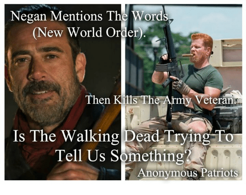 negan mentions the words new world order then kills the 5769665 negan mentions the words new world order then kills the army