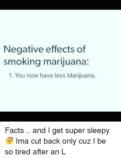 Negative Effects of Smoking Marijuana 1 You Now Have Less