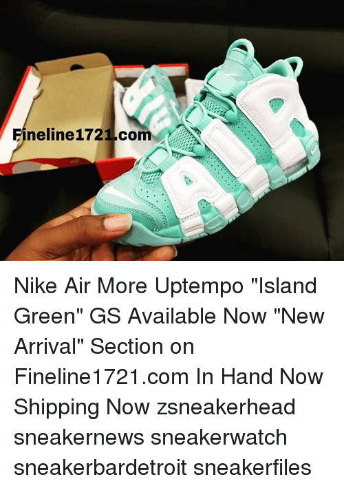 Neline1721com Nike Air More Uptempo Island Green GS Available Now ... 9ac03303d