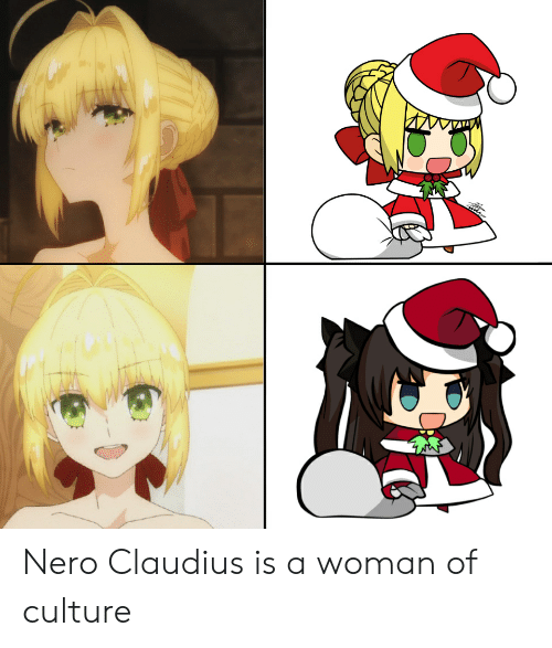 Nero Claudius Is a Woman of Culture | Anime Meme on ME ME