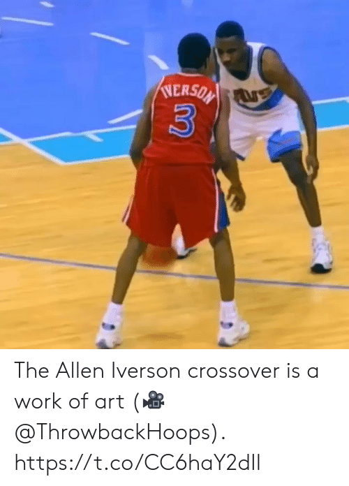 Allen Iverson, Memes, and Work: NERSON  3 The Allen Iverson crossover is a work of art  (🎥 @ThrowbackHoops).  https://t.co/CC6haY2dIl