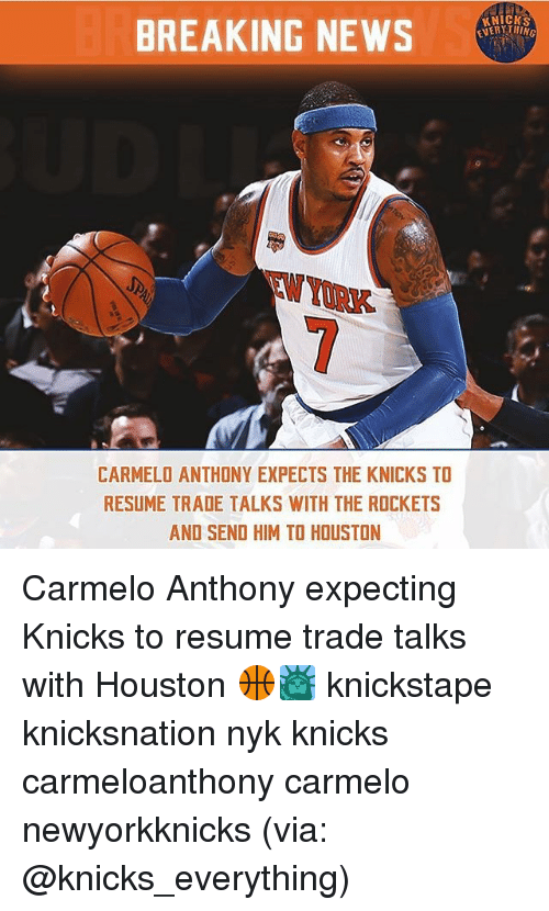 0d2da8c0c NERYTHING BREAKING NEWS TW YORK CARMELO ANTHONY EXPECTS THE KNICKS ...