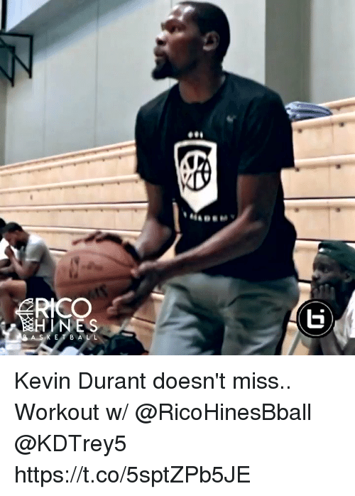 Kevin Durant, Memes, and E.T.: NES  E T B AL L Kevin Durant doesn't miss.. Workout w/ @RicoHinesBball @KDTrey5 https://t.co/5sptZPb5JE