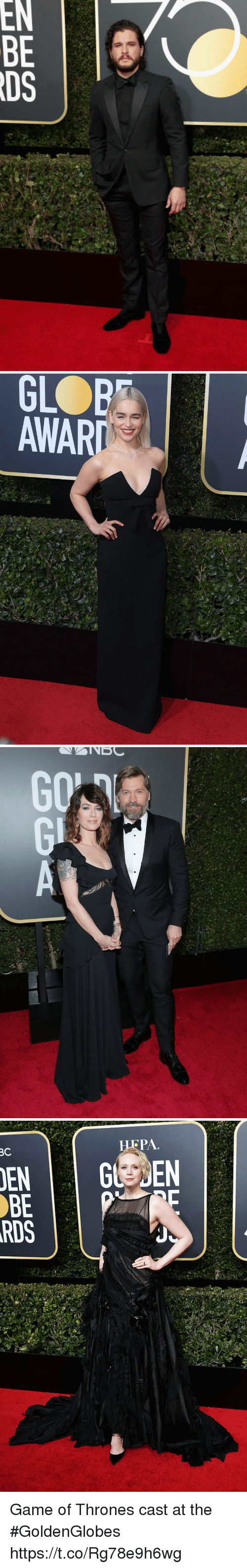Game of Thrones, Game, and Nes: NES   GLOBD  AWAR   NES  EBD Game of Thrones cast at the #GoldenGlobes https://t.co/Rg78e9h6wg