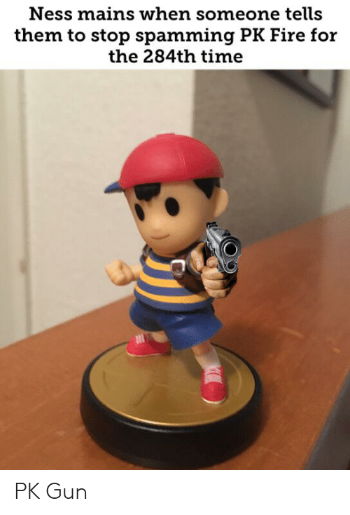 Ness Mains When Someone Tells Them to Stop Spamming PK Fire
