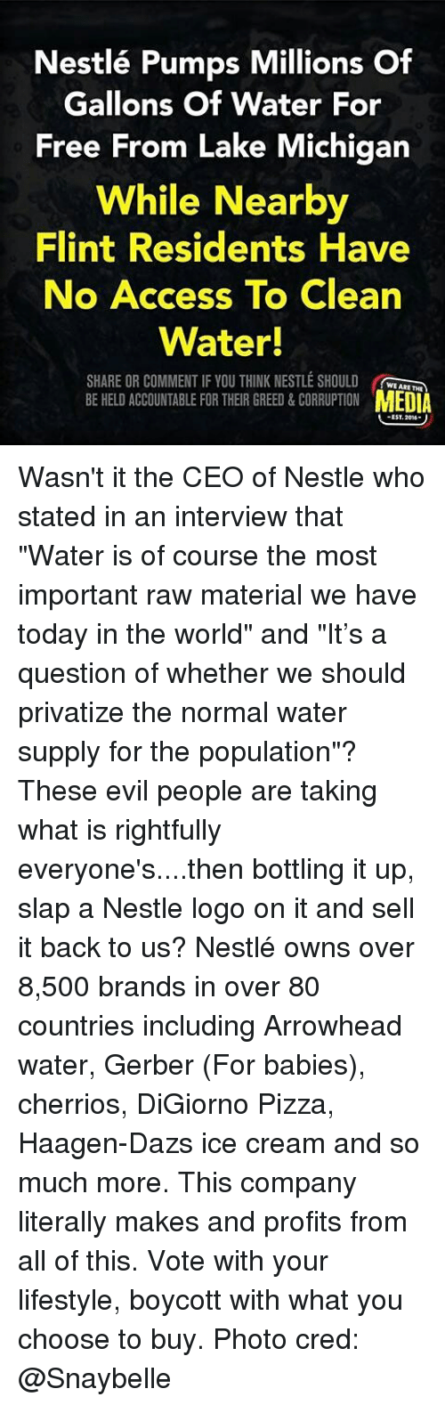 Nestlé Pumps Millions of Gallons of Water for Free From Lake