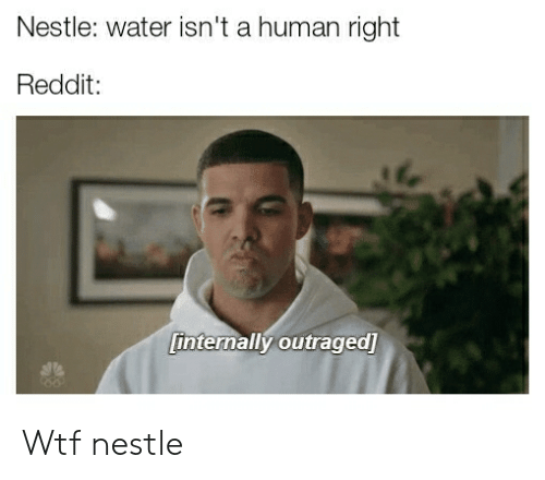 Reddit, Wtf, and Water: Nestle: water isn't a human right  Reddit:  internally outraged] Wtf nestle