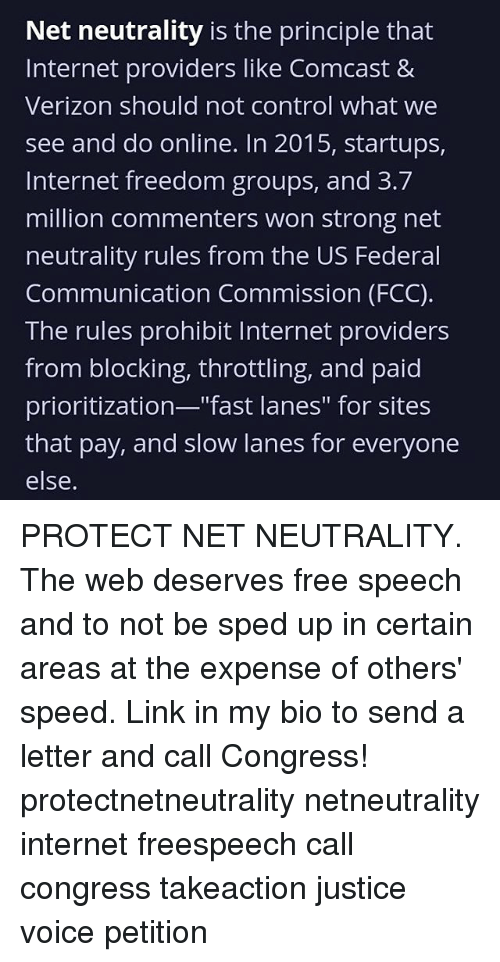 Net Neutrality Is the Principle That Internet Providers Like