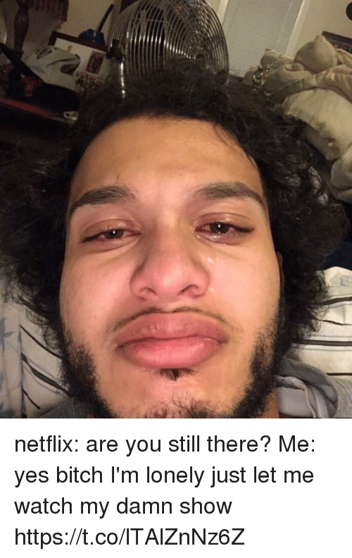 Netflix Are You Still There? Me Yes Bitch I'm Lonely Just