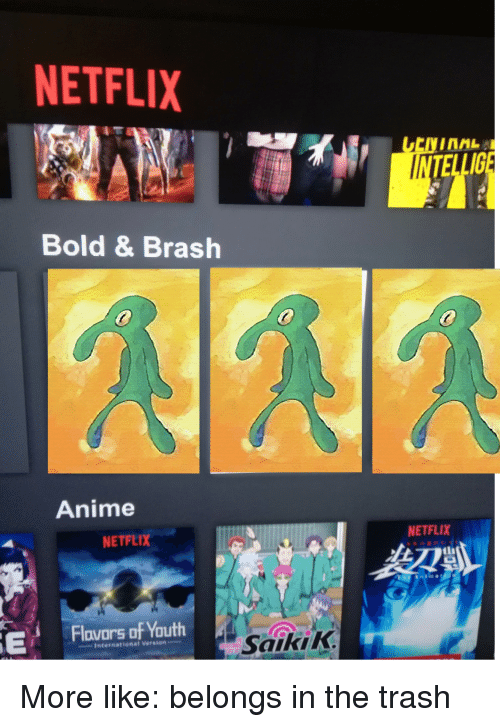 Netflix Bold Brash Anime Netflix Netflix Flovars Of Youth Saikik
