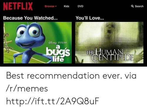 NETFLIX BrowseKids DVD Search Because You Watched You'll